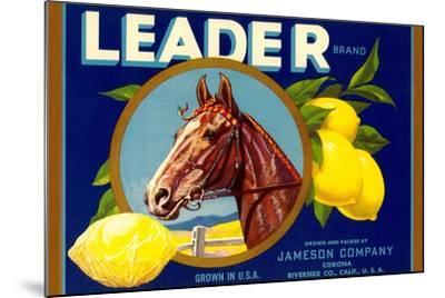 Leader Lemon Label--Mounted Art Print