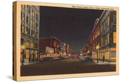 Main Street, Painesville--Stretched Canvas Print