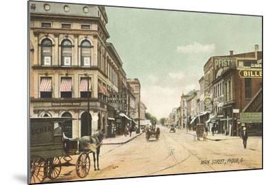 Main Street, Piqua--Mounted Art Print