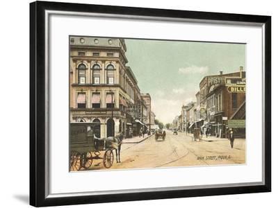 Main Street, Piqua--Framed Art Print