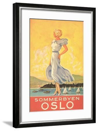 Oslo Travel Poster--Framed Art Print