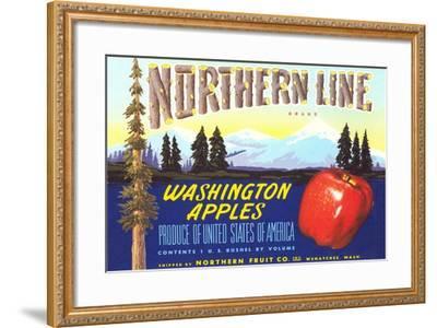 Northern Line Apple Label--Framed Art Print