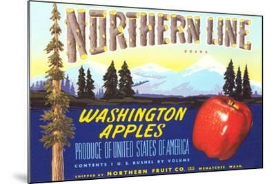 Northern Line Apple Label--Mounted Art Print