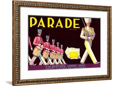 Parade Lemon Label--Framed Art Print