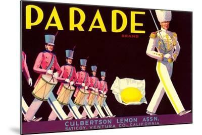 Parade Lemon Label--Mounted Art Print