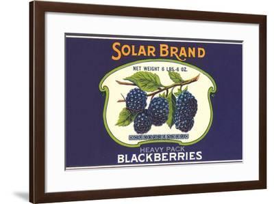 Solar Blackberry Label--Framed Art Print