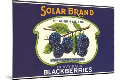 Solar Blackberry Label--Mounted Art Print