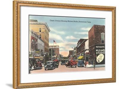 Center Avenue, Brownwood--Framed Art Print