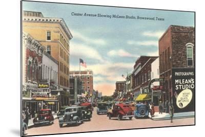 Center Avenue, Brownwood--Mounted Art Print