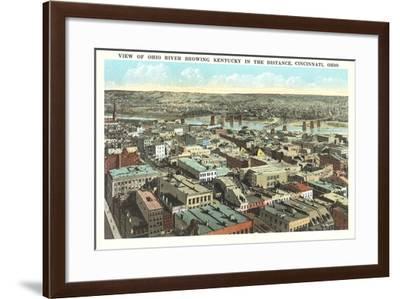 Overview of Cincinnati--Framed Art Print