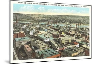 Overview of Cincinnati--Mounted Art Print
