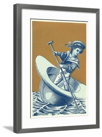 Little Sailor in Hat--Framed Art Print