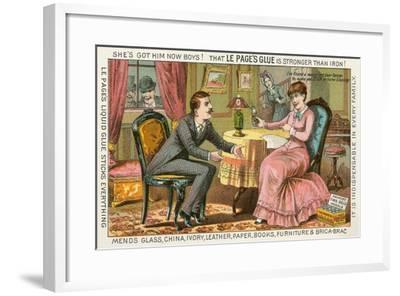 Old Fashioned Glue Ad--Framed Art Print