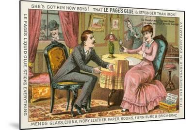 Old Fashioned Glue Ad--Mounted Art Print