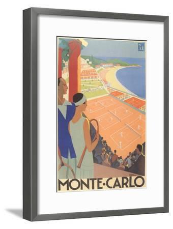 Travel Poster for Monte Carlo--Framed Premium Giclee Print