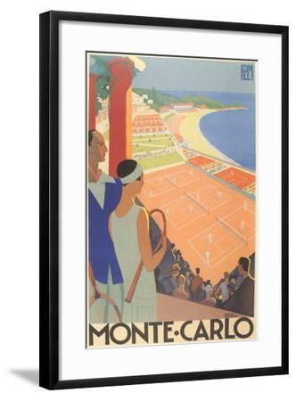 Travel Poster for Monte Carlo--Framed Art Print