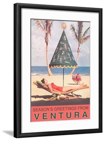 Season's Greetings from Ventura--Framed Art Print