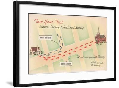 Church Reminder--Framed Art Print