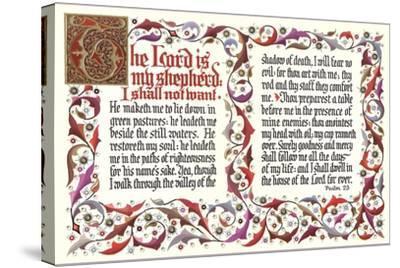 Twenty-Third Psalm--Stretched Canvas Print