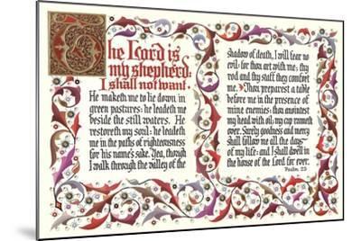 Twenty-Third Psalm--Mounted Art Print