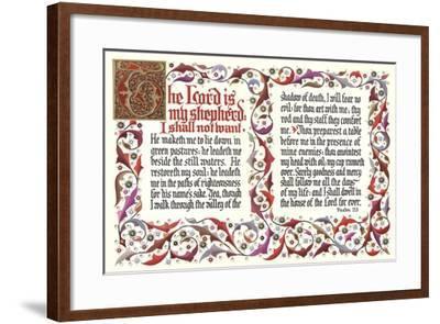 Twenty-Third Psalm--Framed Art Print