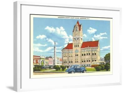 Anderson County Courthouse--Framed Art Print