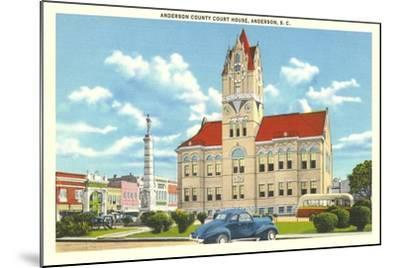 Anderson County Courthouse--Mounted Art Print