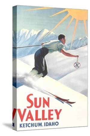 Sun Valley Travel Poster--Stretched Canvas Print