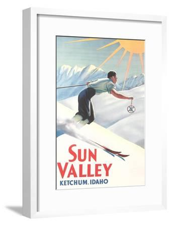 Sun Valley Travel Poster--Framed Premium Giclee Print