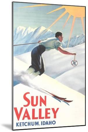 Sun Valley Travel Poster--Mounted Premium Giclee Print