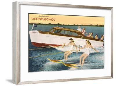 Greetings from Lake Oconomowoc--Framed Art Print