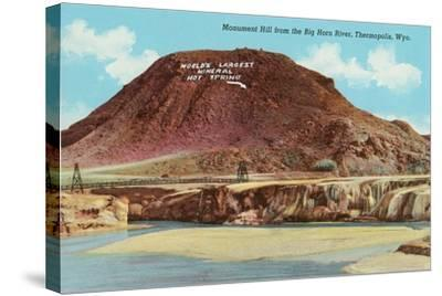 Monument Hill, Thermopolis--Stretched Canvas Print