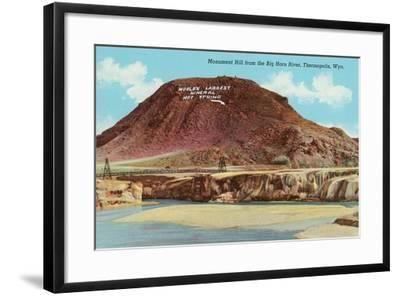 Monument Hill, Thermopolis--Framed Art Print