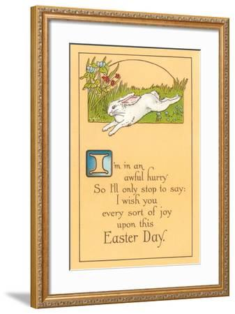 Easter Poem with Bunny--Framed Art Print