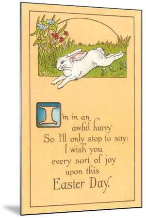 Easter Poem with Bunny--Mounted Art Print