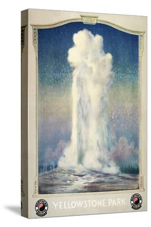Vintage Old Faithful--Stretched Canvas Print