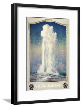Vintage Old Faithful--Framed Premium Giclee Print