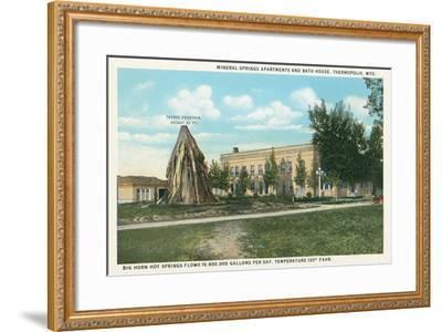 Teepee Fountain, Thermopolis--Framed Art Print