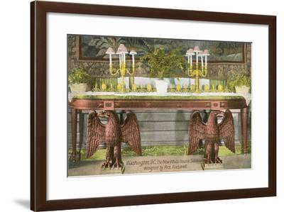 White House Sideboard--Framed Art Print