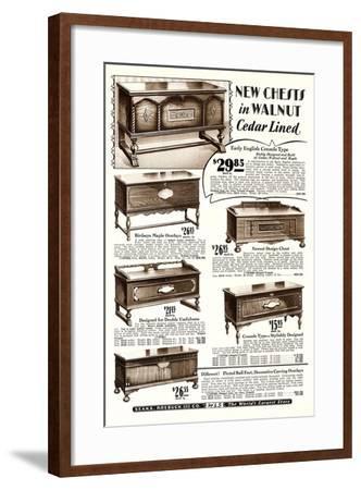 Cedar-Lined Walnut Chests--Framed Art Print