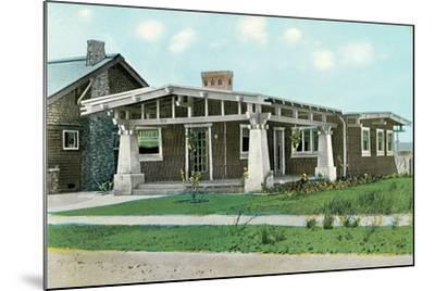 Craftsman House with Pillars--Mounted Art Print