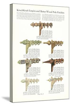 Curtain Hardware Catalog--Stretched Canvas Print
