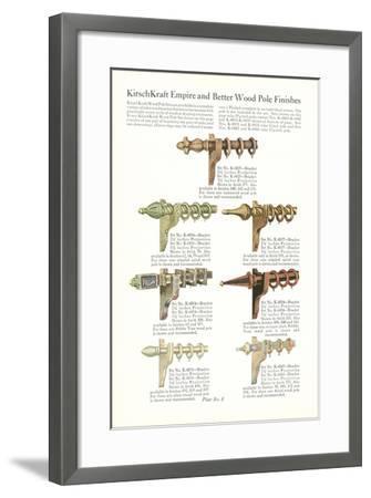 Curtain Hardware Catalog--Framed Art Print