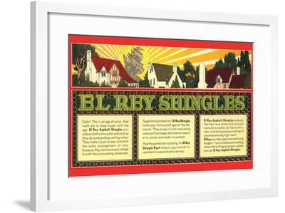 El Rey Shingles Ad--Framed Art Print