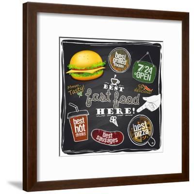 Best Fast Food Here-Selenka-Framed Art Print