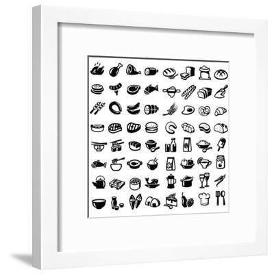 Food Icons-bioraven-Framed Art Print