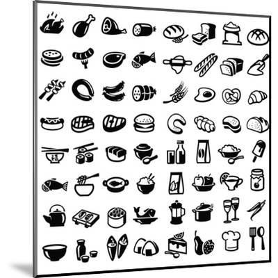 Food Icons-bioraven-Mounted Art Print