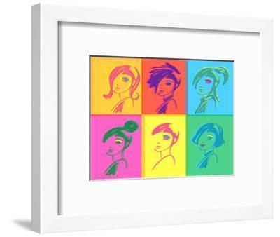 Young Fashion Woman Design, Pop Art Style-lavitrei-Framed Art Print