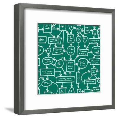 Crazy Management Flowchart-YKh-Framed Art Print