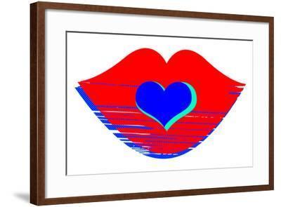 Valentine Illustration of Primary Colors-nito-Framed Art Print